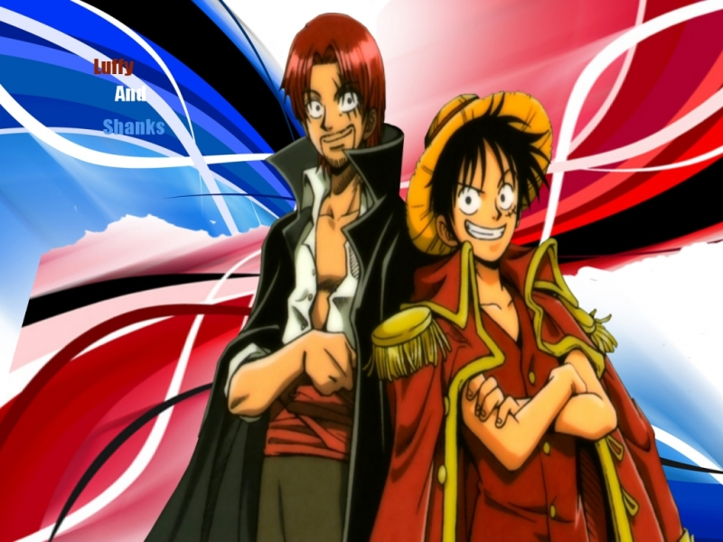 One Piece Luffy Shanks wallpaper   Animebay Wallpapers 800x600