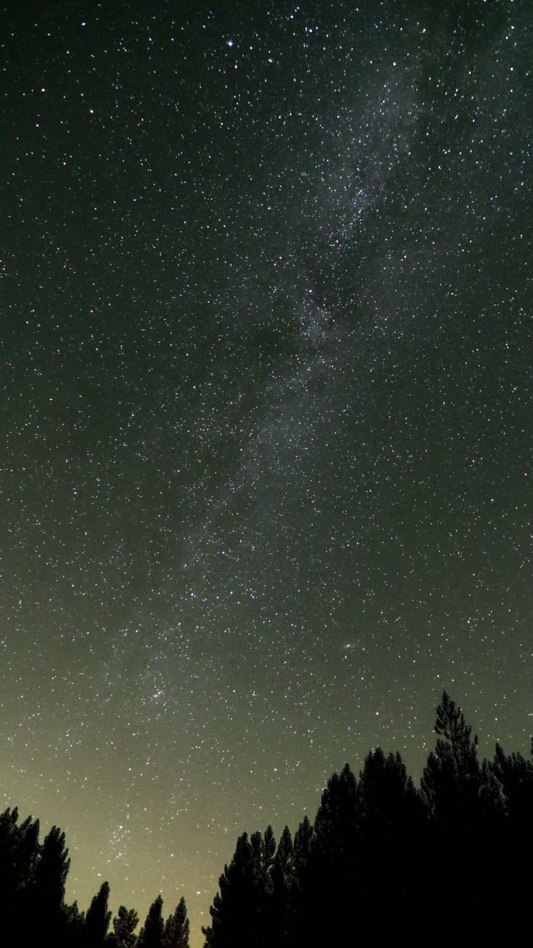 Nature starry night sky HD Samsung S4 wallpaper 1080x1920