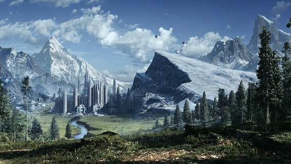 Star Wars The Old Republic A Beautiful Landscape 570x321