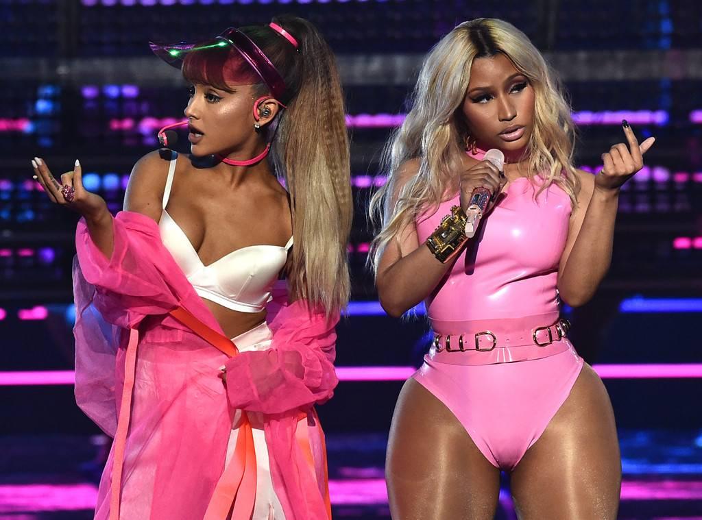 Nicki Minaj Denies Feud With Ariana Grande After People Attack Her 1024x759