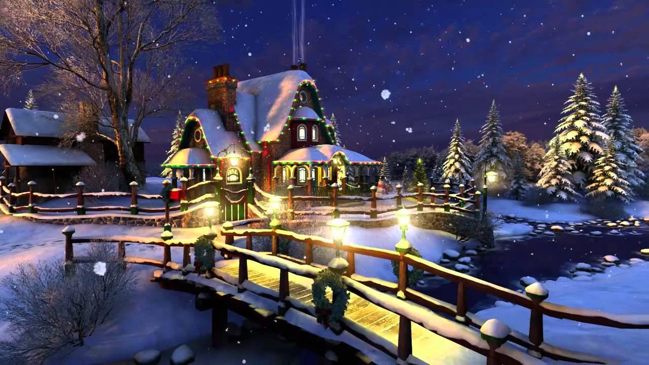 White Christmas 3D Screensaver 1280x720