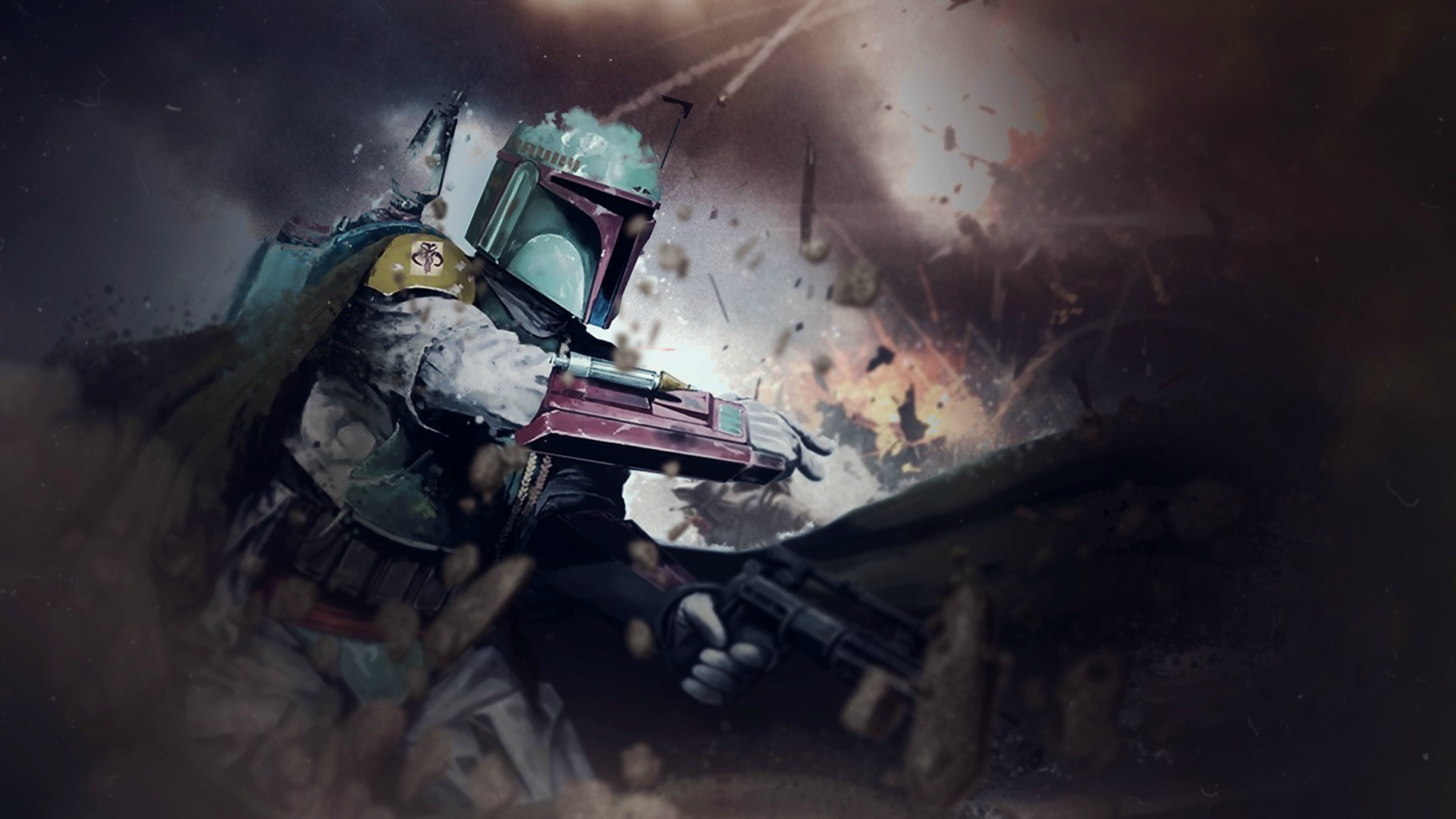 Star Wars Boba Fett Weapon Cape Debris Wallpapers HD 1920x1080