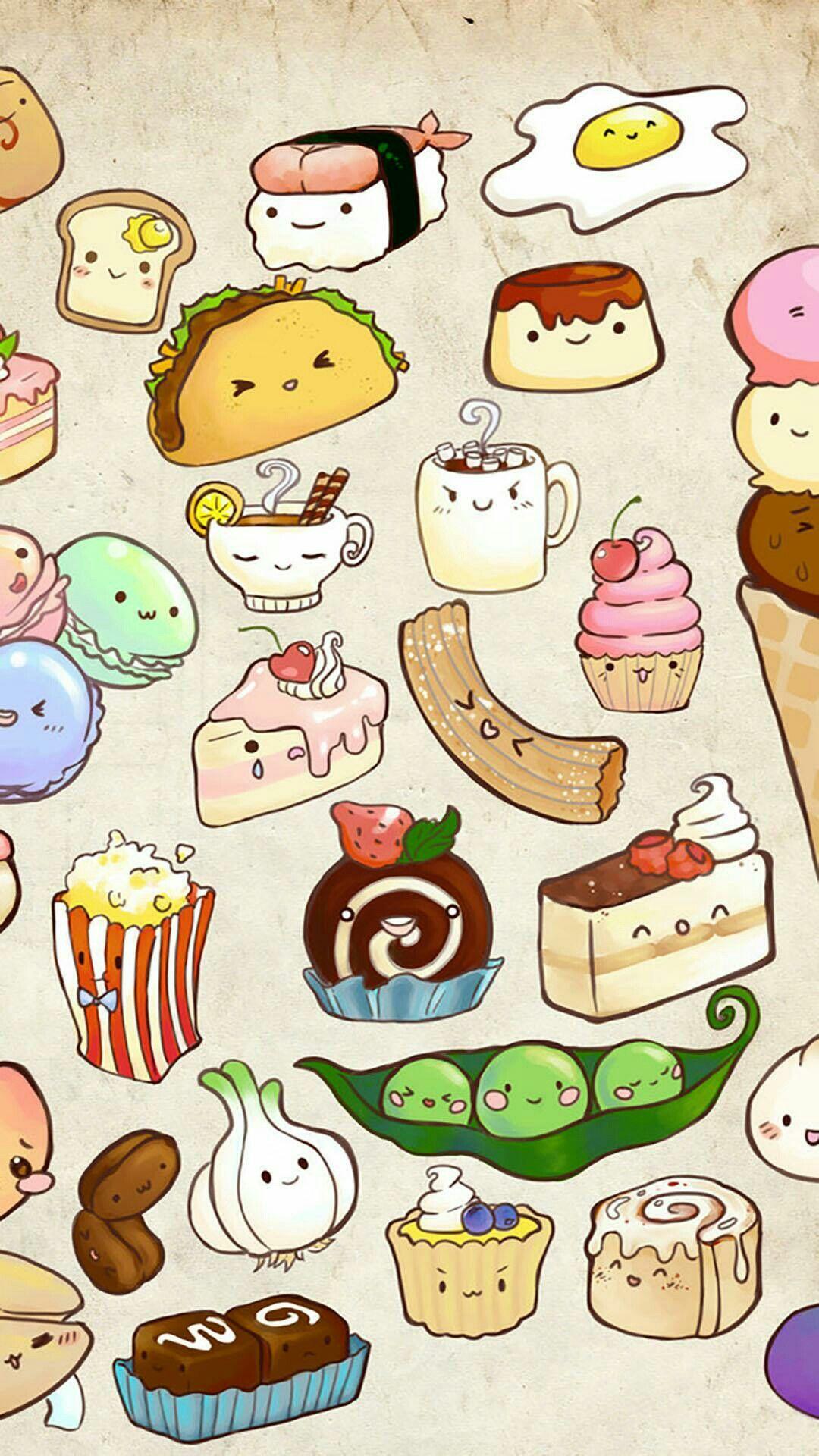Cute Adorable Fun Junk Food Wallpaper Krjjejue Cute food 1080x1920