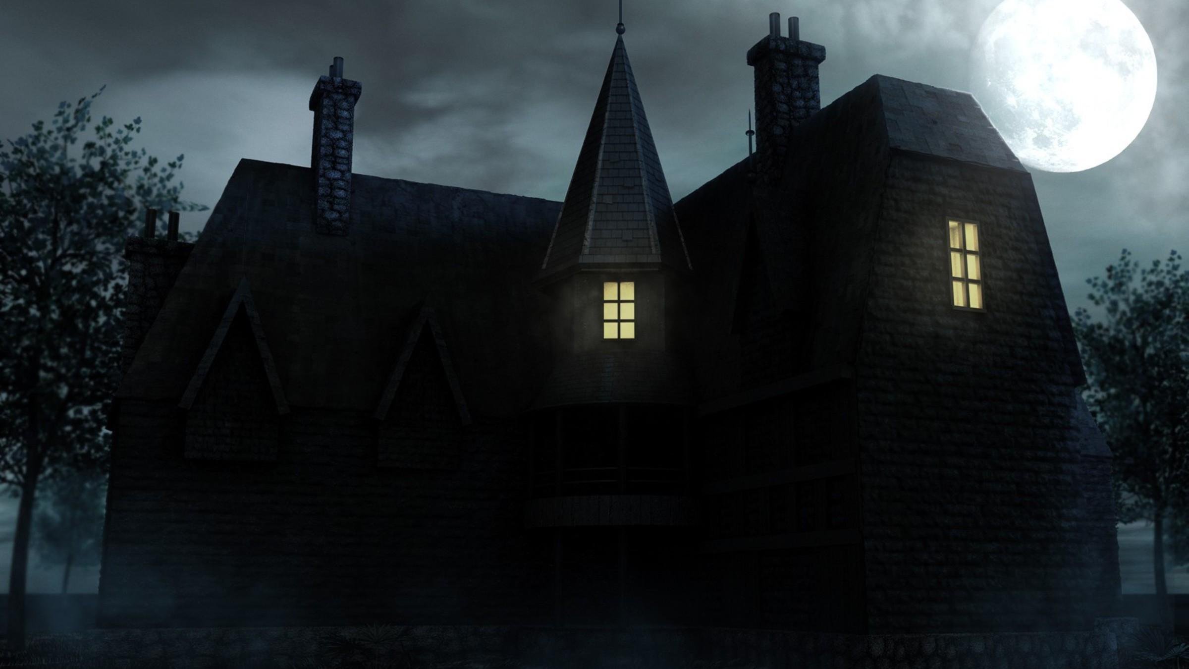 Scooby doo haunted house 3d graphics wallpaper 2400x1350
