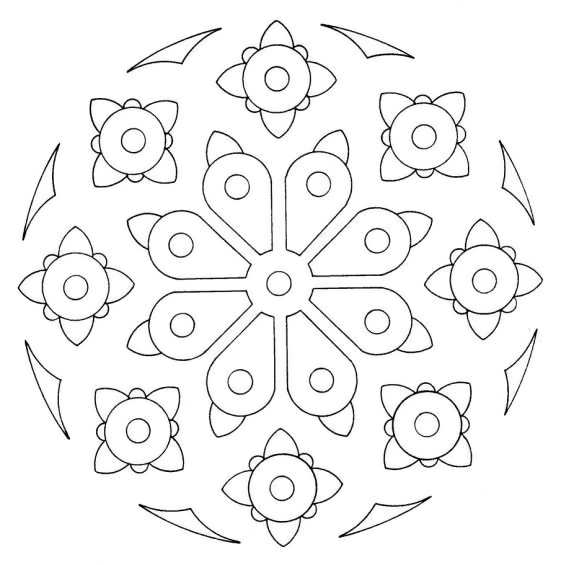 Mandalas Design Coloring Wallpapers Coloring 561x565