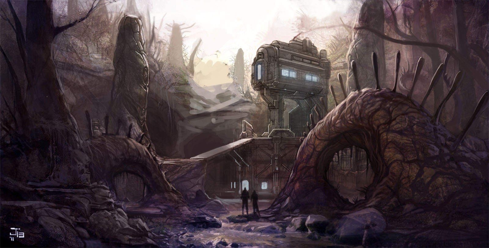 Halo 4 Abandon Concept Art 1600x812
