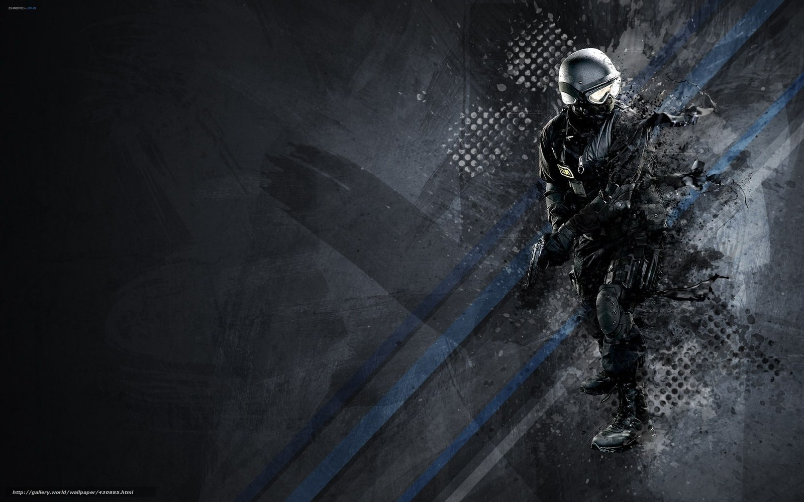 wallpaper Special Forces gun weapon police desktop wallpaper 1600x1000