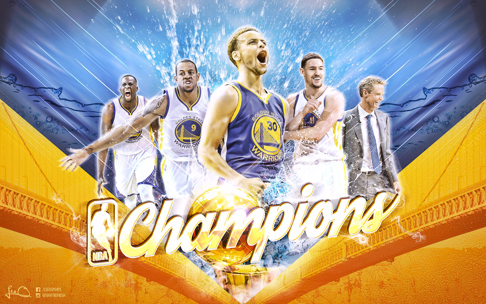 Golden State Warriors NBA Champions Wallpaper by skythlee on 1600x1000