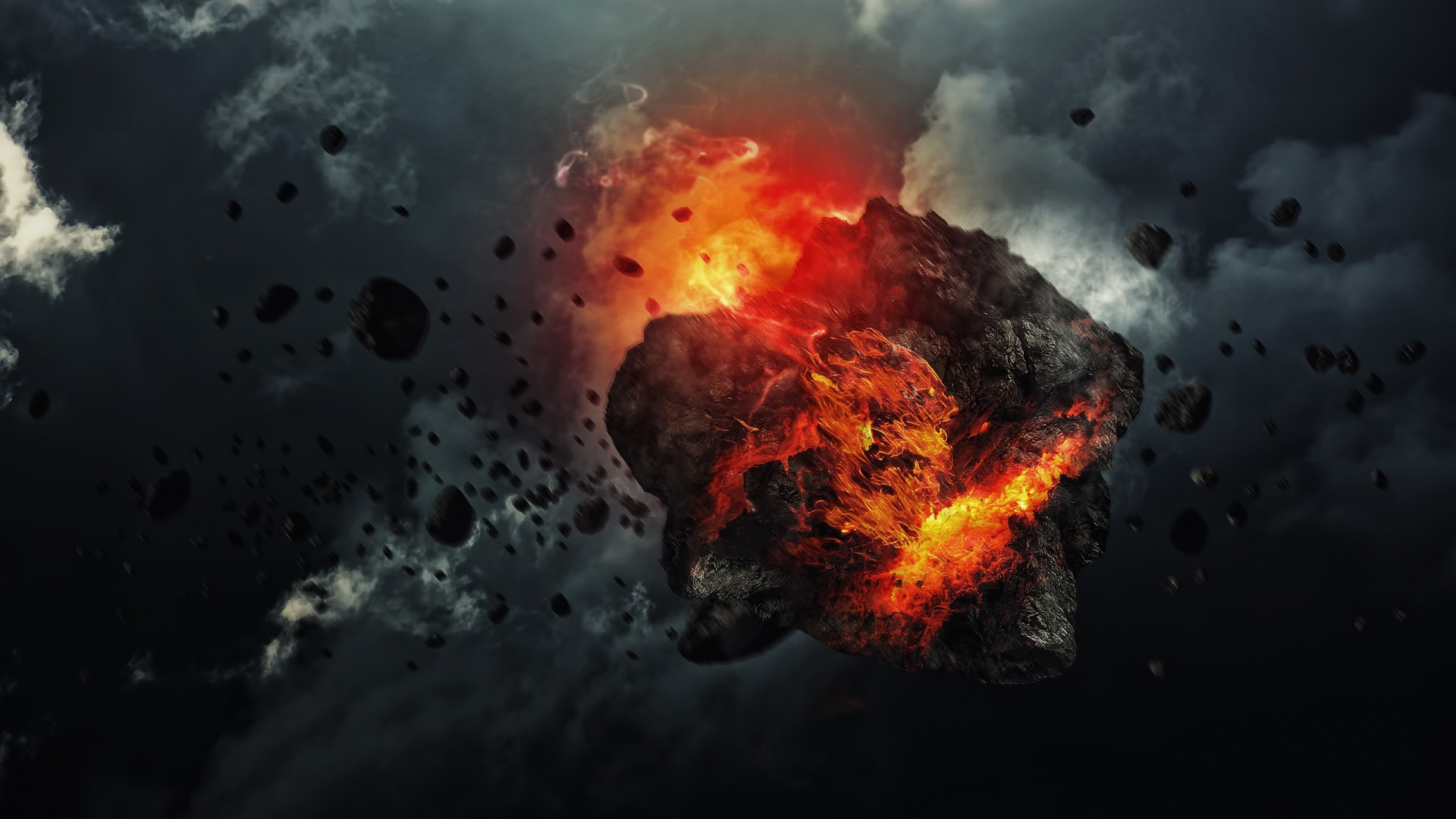 Explosion in dark sky HD Wallpaper 10944 1920x1080