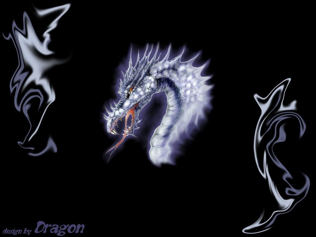 Non nude wallpaper desktop wallpaper Dragon 1024x768