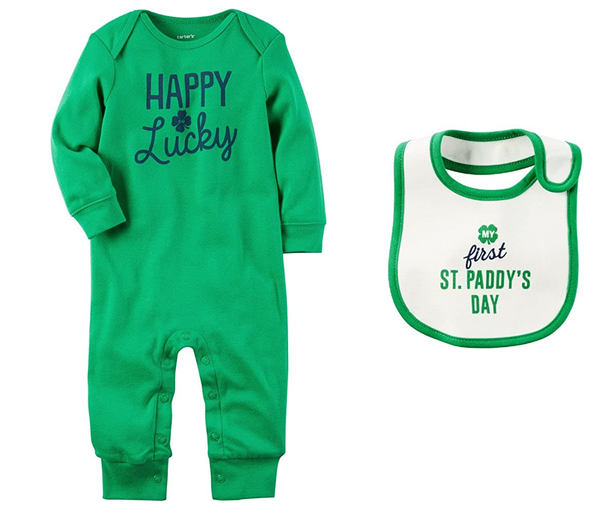 Buy carters Boys or Girls Babys First St Patricks Day Romper 1200x1000