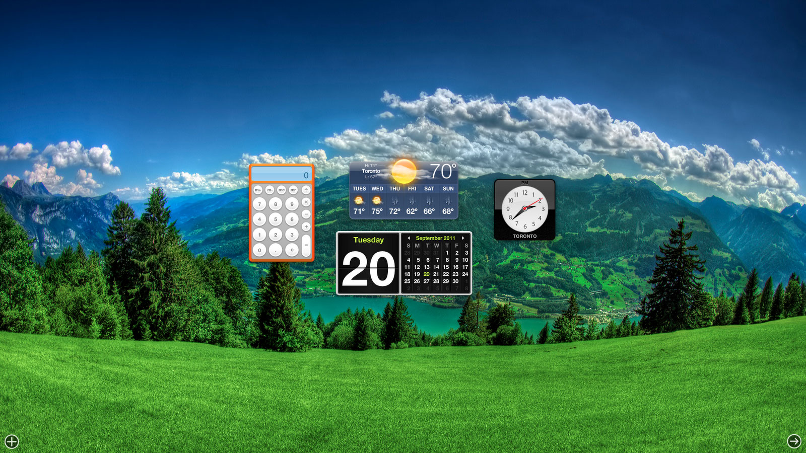 Change Mission Control And Dashboard Backgrounds In Mac OS X Lion 1600x900