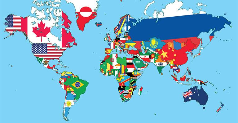 World Map Wallpaper Designs for Office Walls 768x399