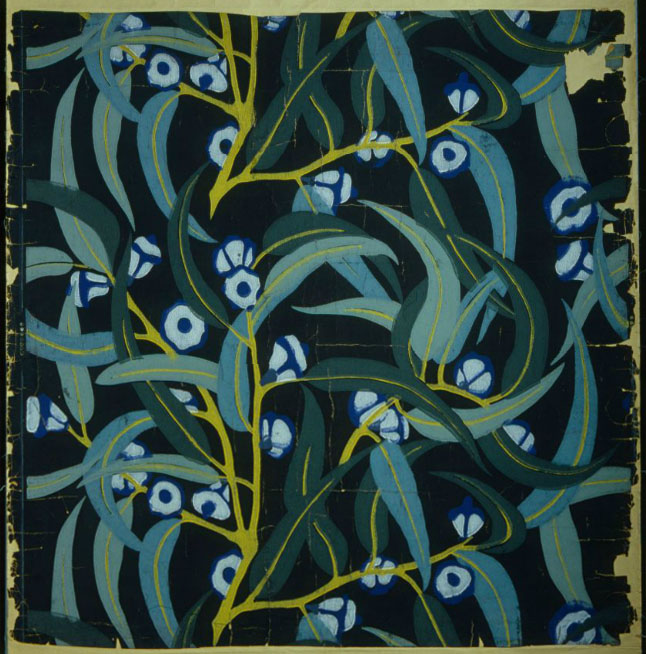 Atelier Martine Eucalyptus c1912 Wallpaper impression from a 646x654