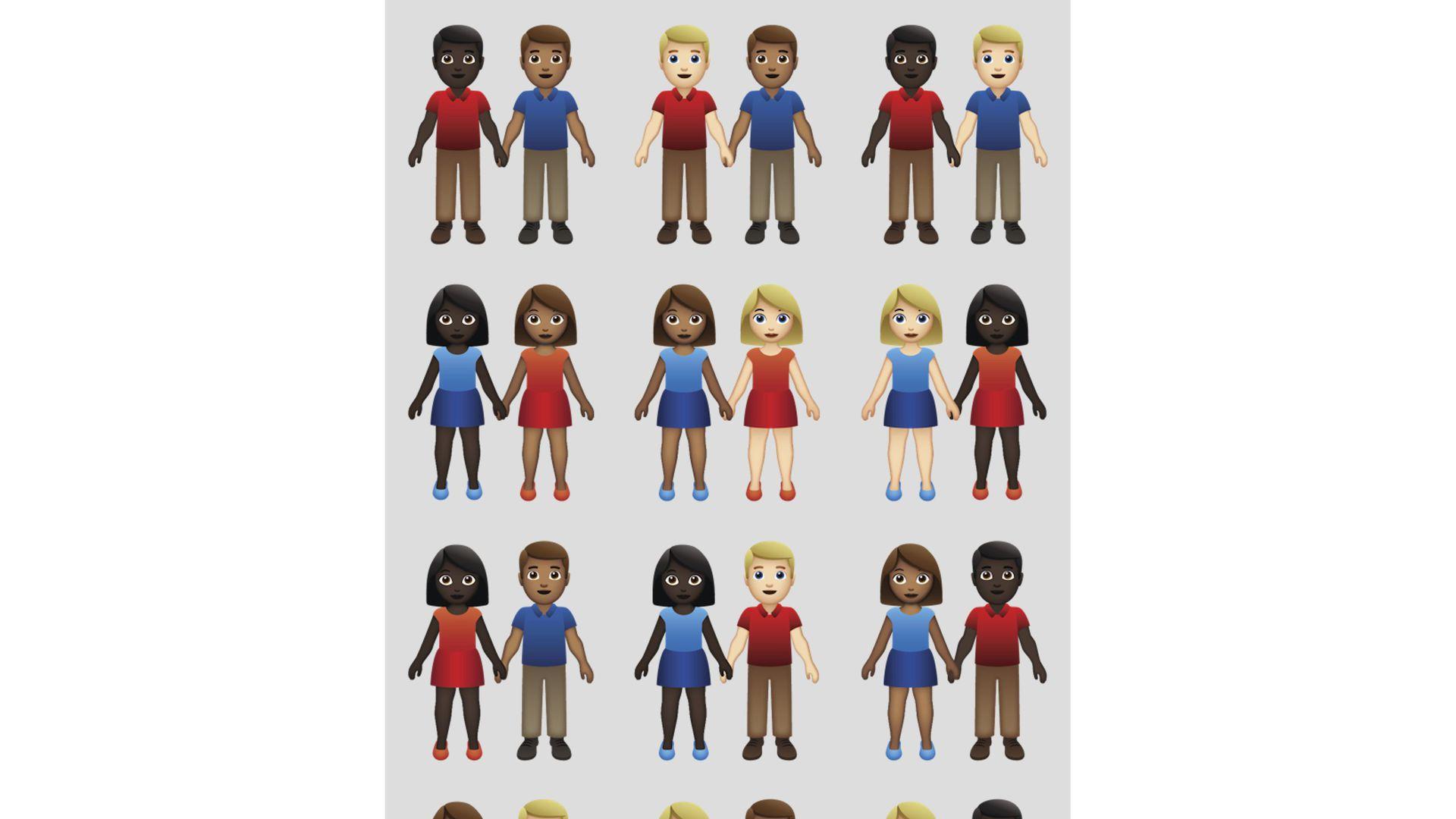Unicode Consortium approves interracial couple emojis   Axios 1920x1080