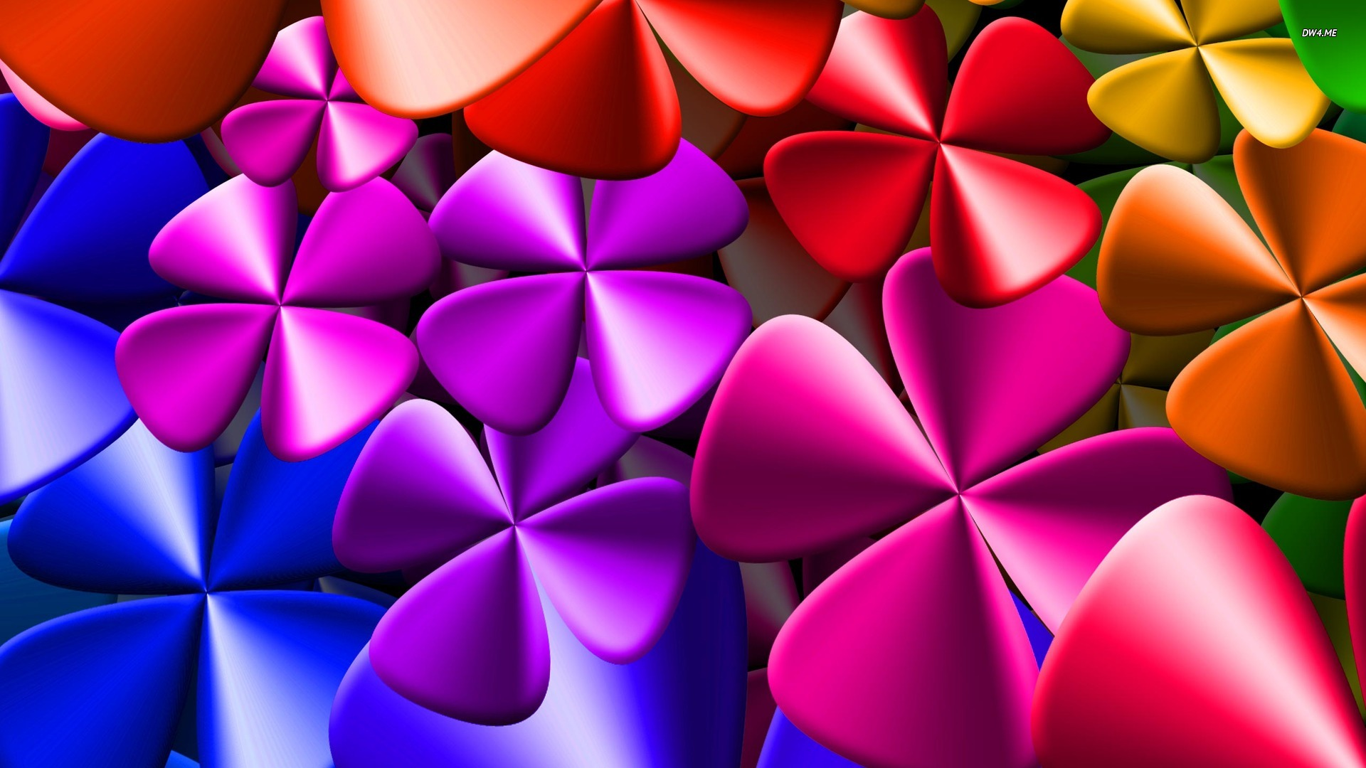 Colorful clovers wallpaper   588795 1920x1080
