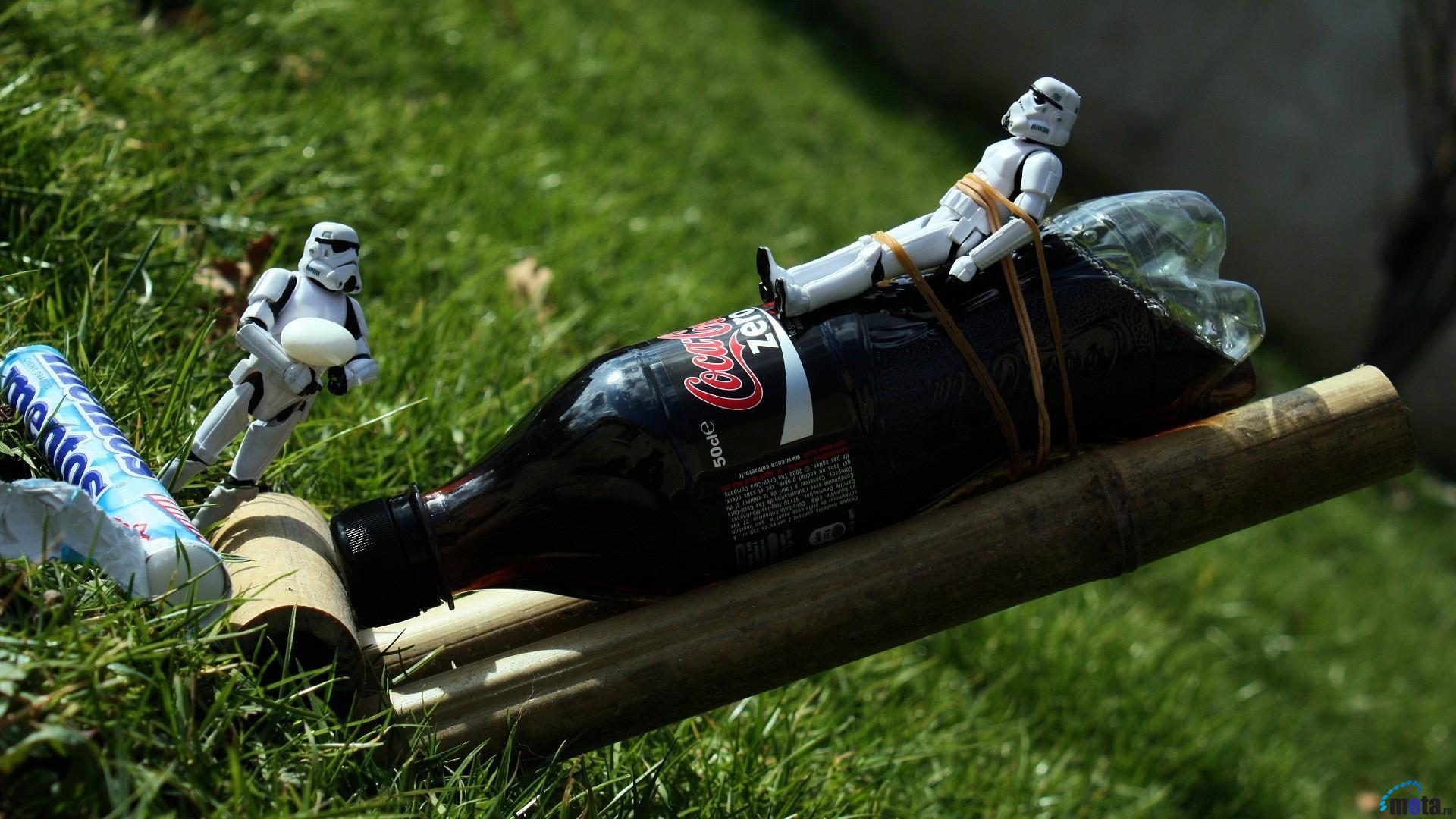 Download wallpaper Stormtroopers Coca Cola and Mentos 1920x1080