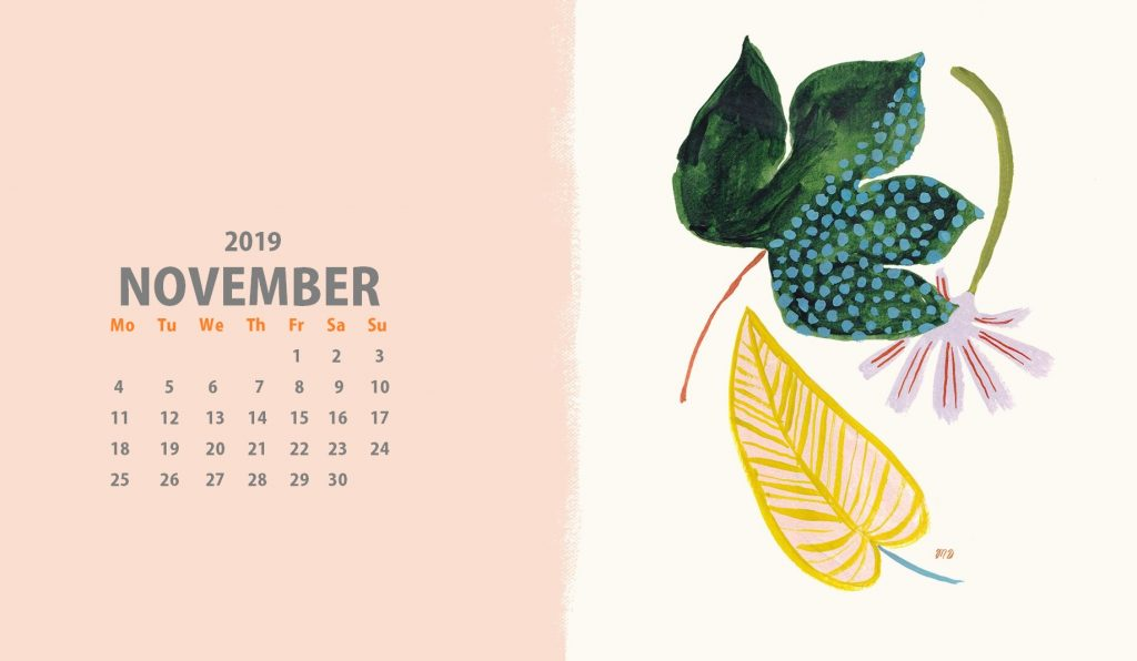 November 2019 Desktop Wallpaper Calendar 2020 1024x596