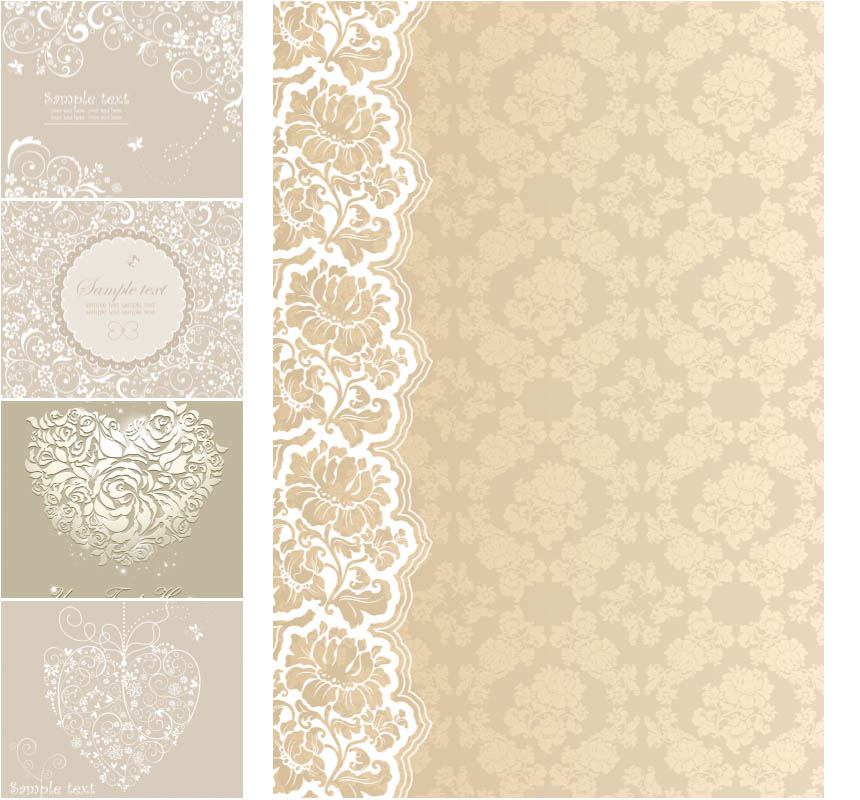 Beige wedding background vector Vectors Images in EPS and AI 860x800