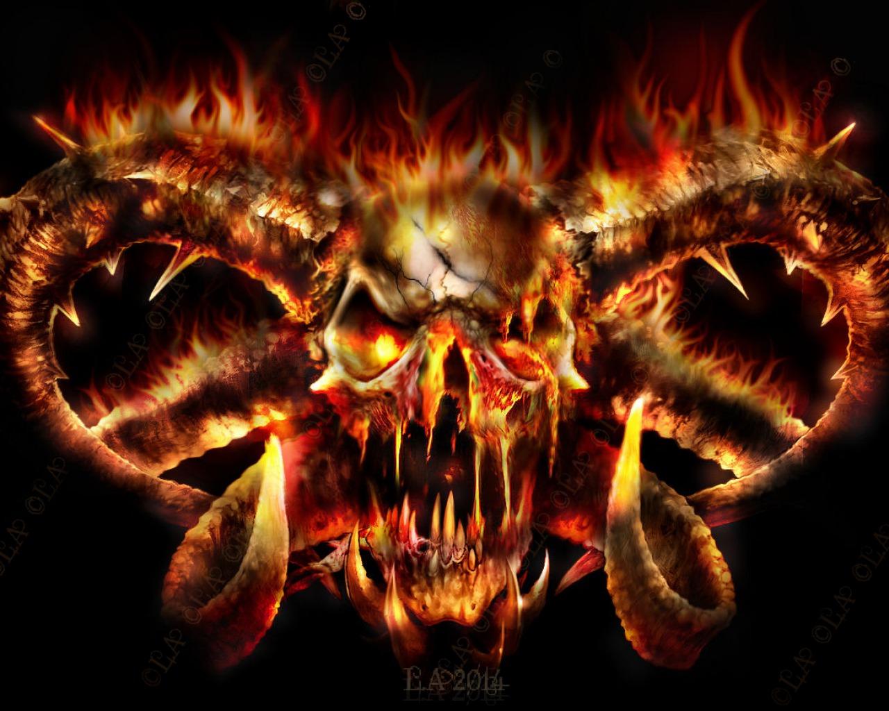Pics Photos   Skull Fire Wallpaper Wwwp1qeu Pics 1280x1024