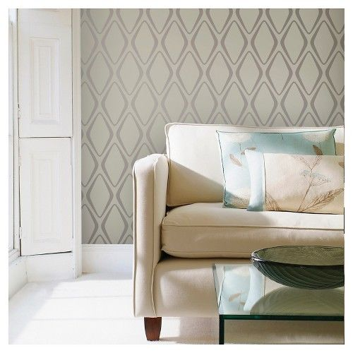 Devine Color Peel and Stick Wallpaper Diamond Pattern Mirage and 500x500