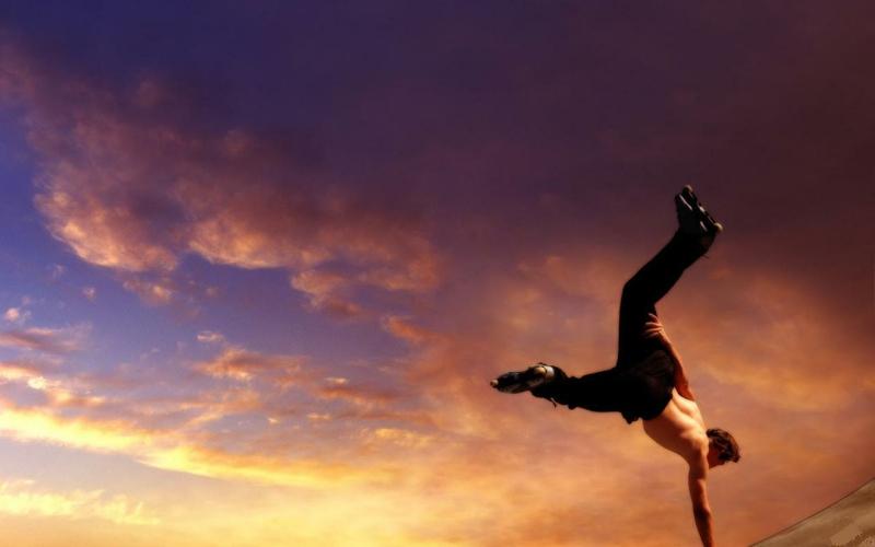 acrobat beauty Parkour Nature Sky HD Desktop Wallpaper 800x500