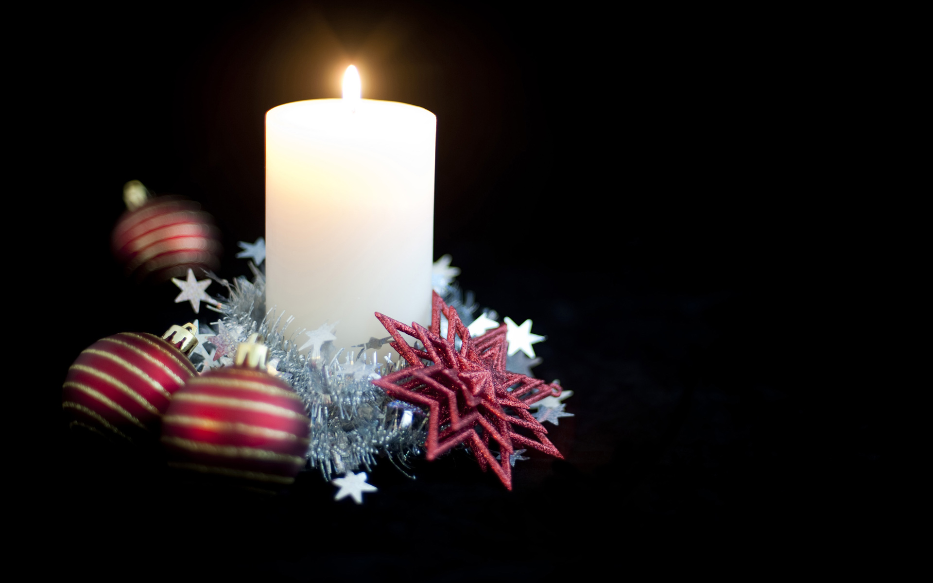 wallpaper candle christmas decorated beautiful computer 1920x1200