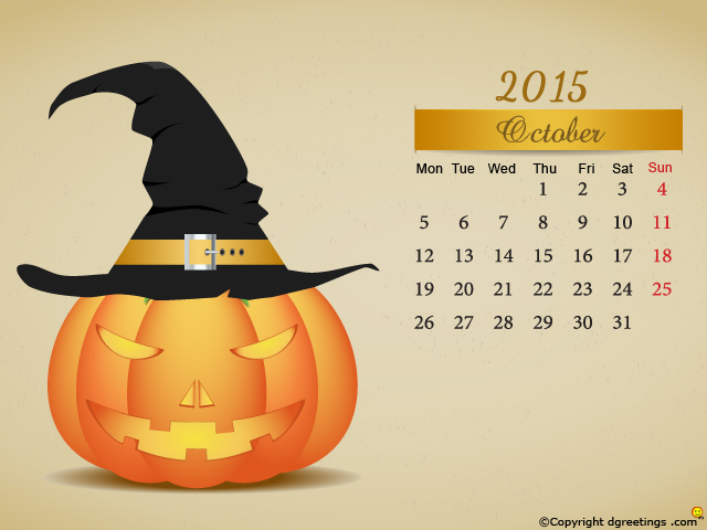 October Calendar wallpapersdgreetingscom 640x480