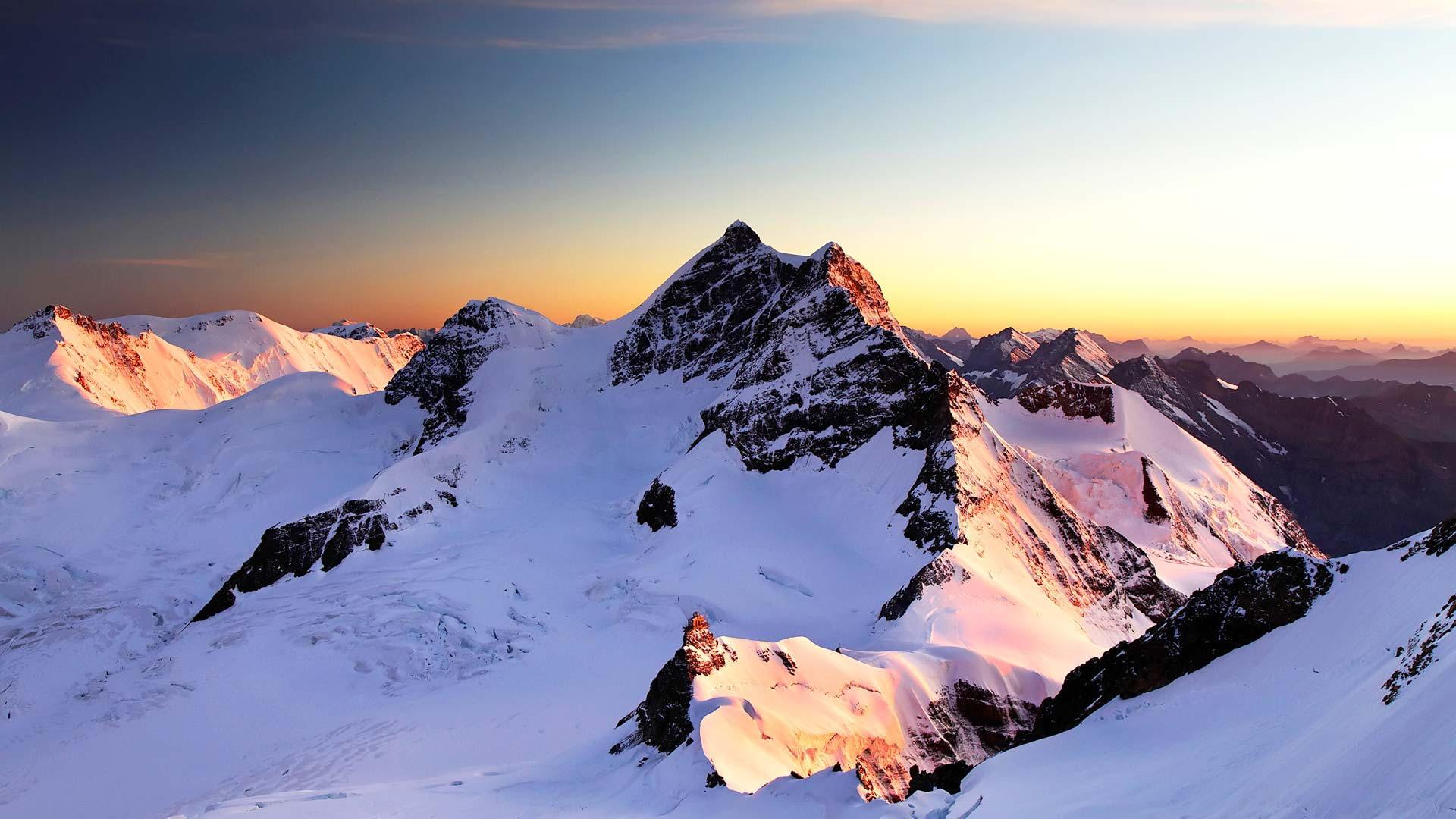 HD Beautiful Jungfrau Summit in Switzerland the main summits of 1920x1080