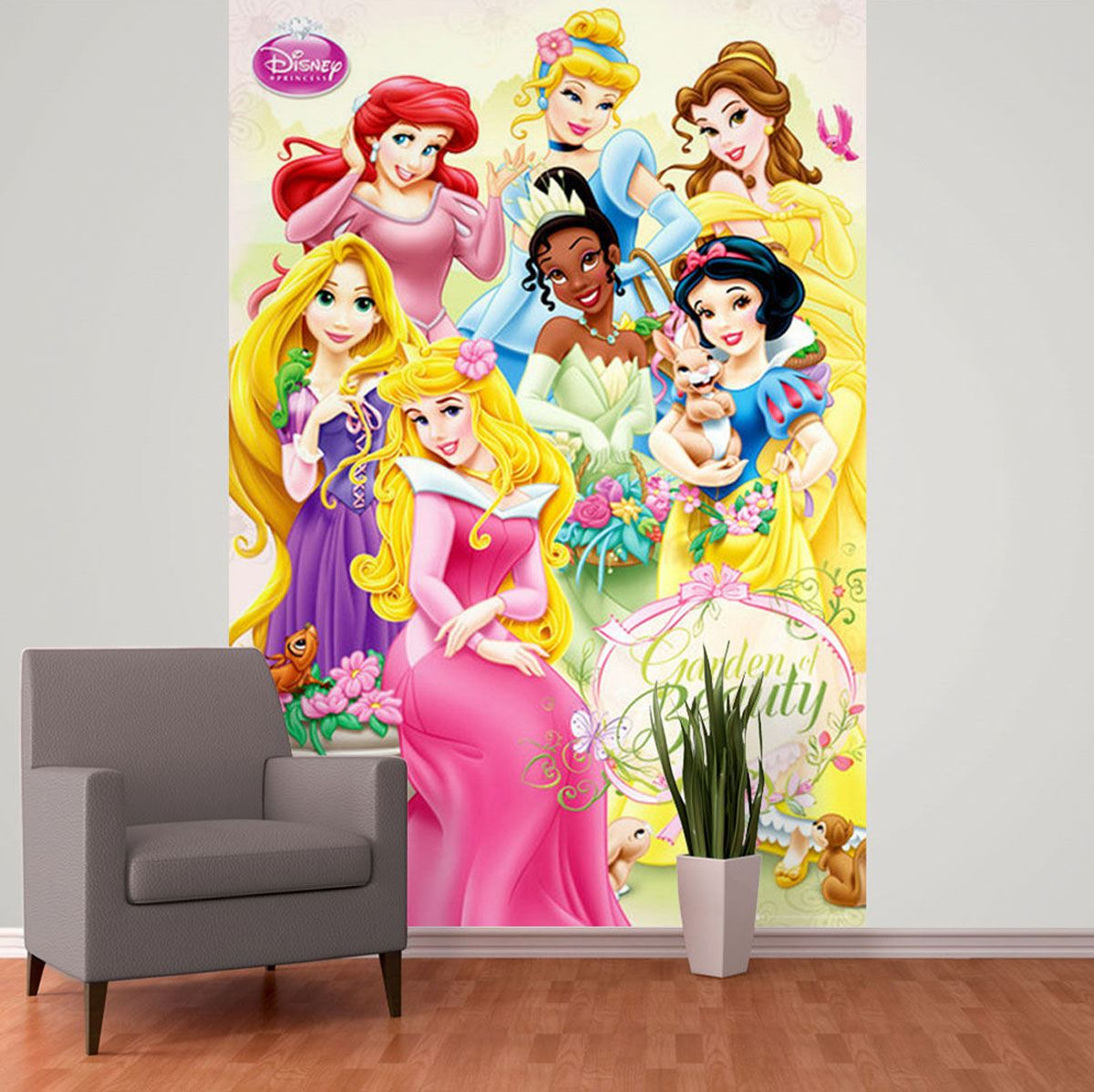 DISNEY PRINCESS WALLPAPER WALL MURAL 232cm x 158cm NEW BEDROOM DECOR 1200x1198