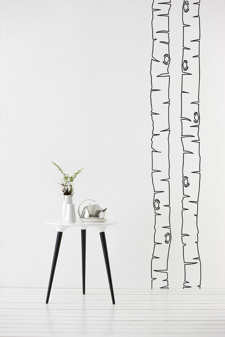 Birch Wallpaper Wall Trees Pinterest 736x1103