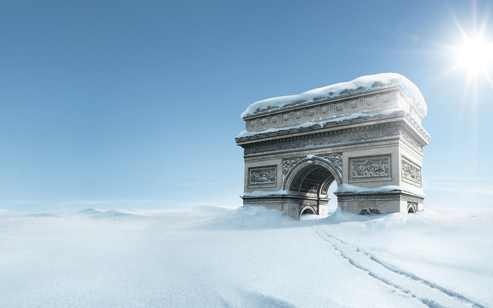 Paris in winter wallpaper wallpapersafari for Fond ecran paris