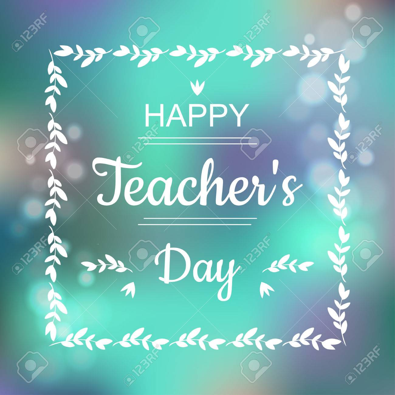 Greeting Card For Happy Teachers Day Abstract Background And 1300x1300