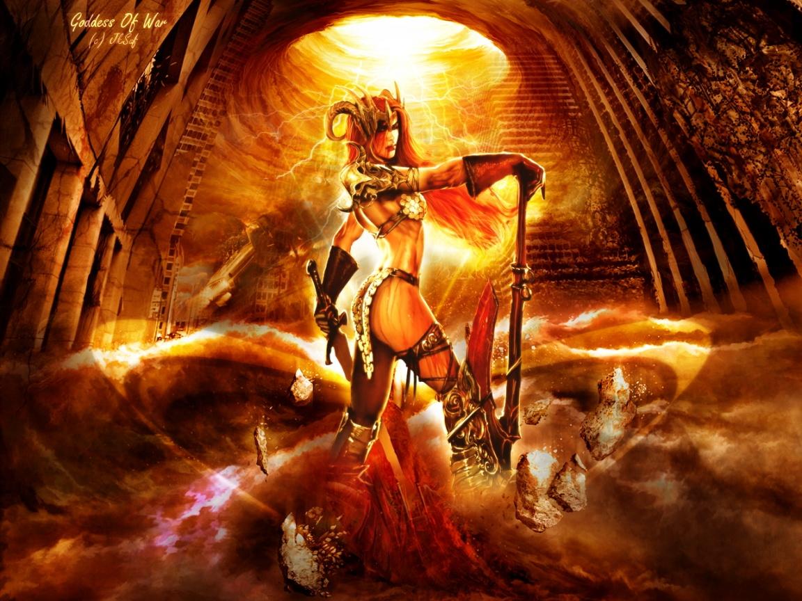 Goddess Of War Wallpaper Background 26489 1152x864