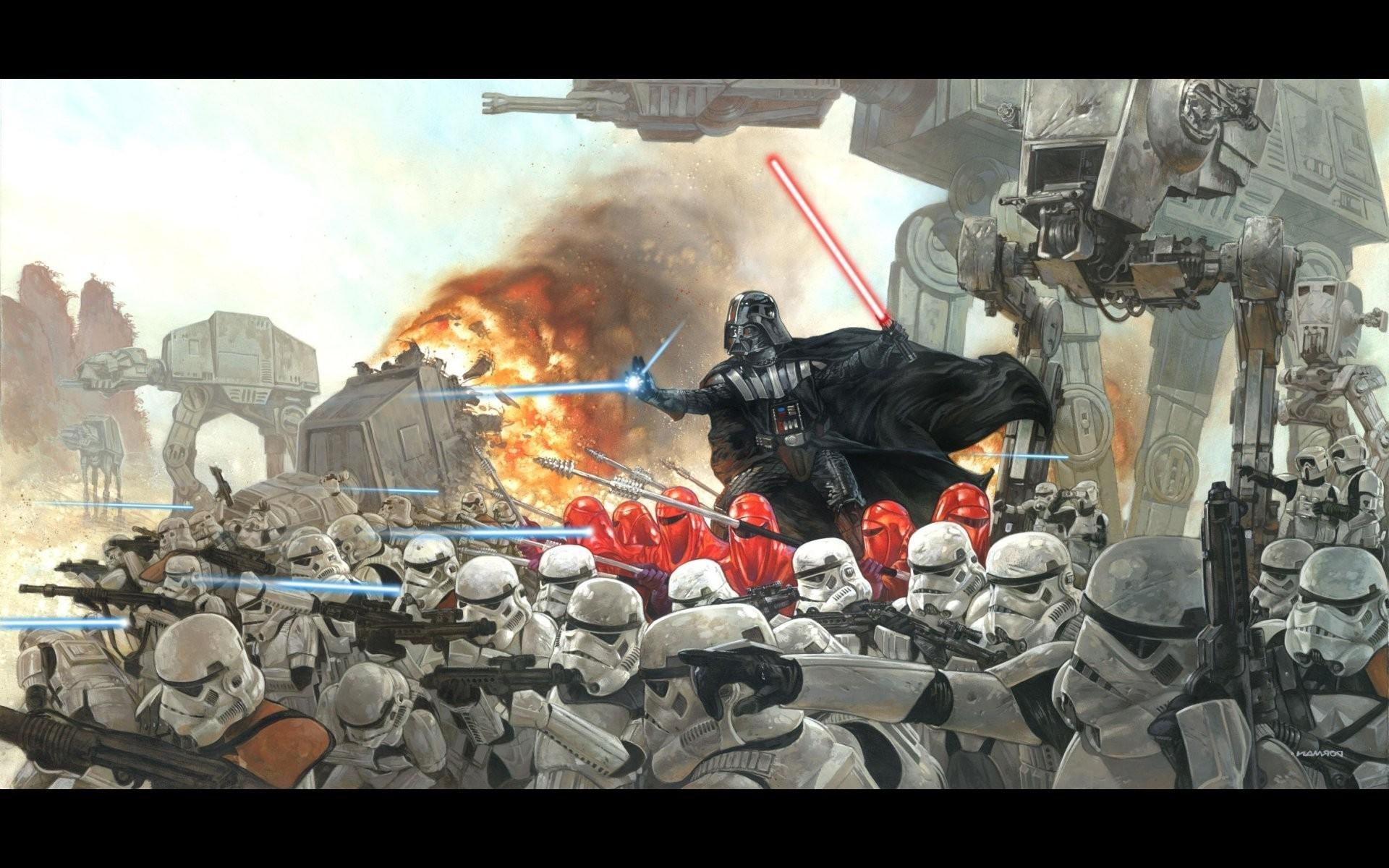 Star Wars battle wallpaper 5898 1920x1200