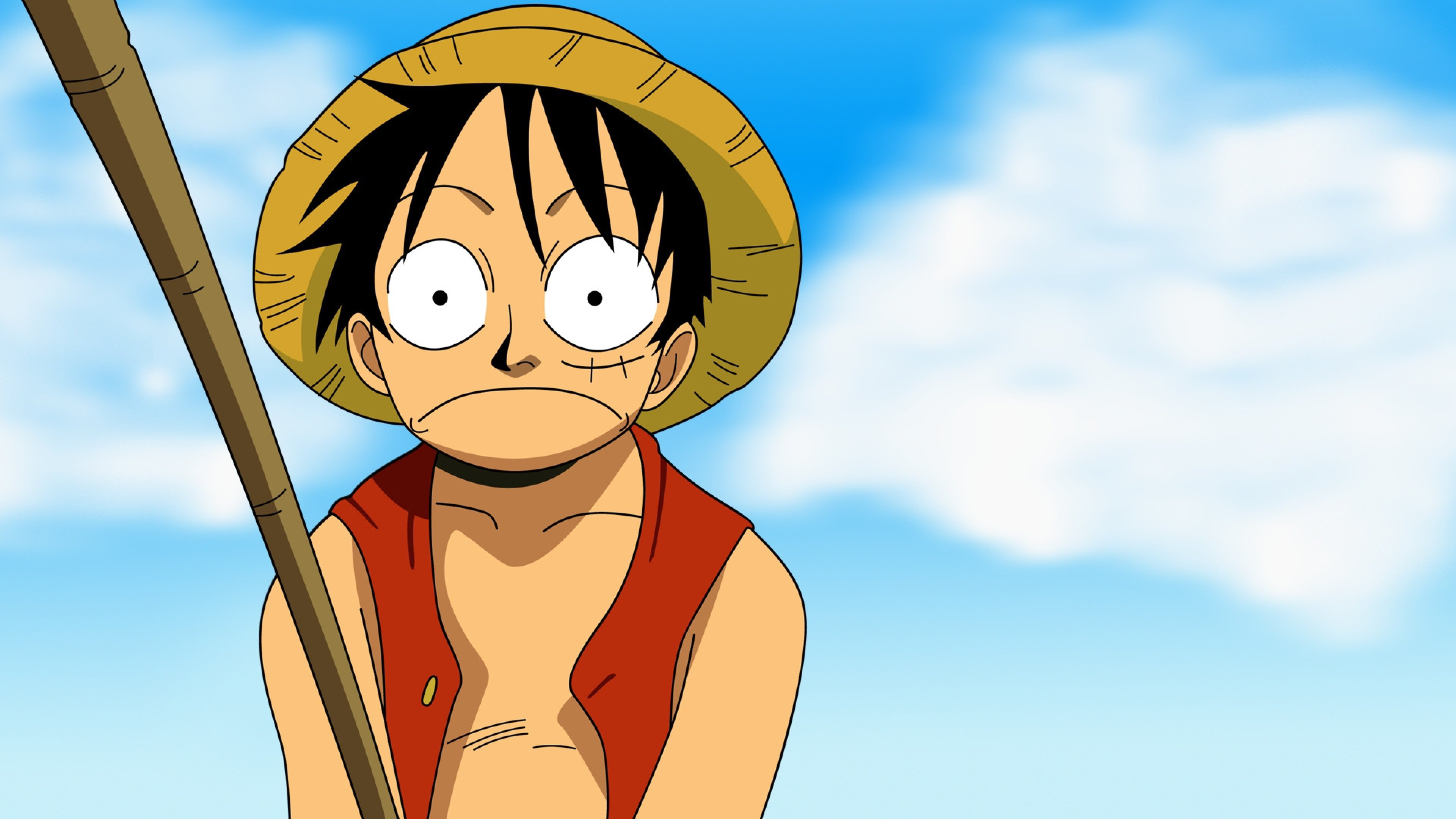 3840x2160 One piece Embarrassment Boy Hat Fishing Sky Wallpaper 3840x2160