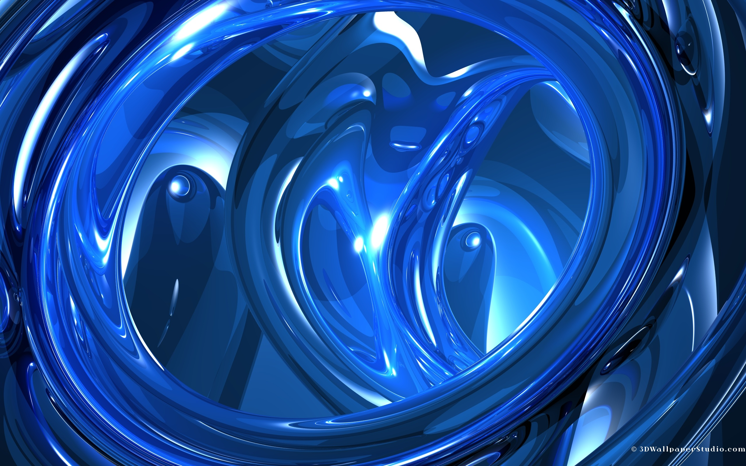 3D Wallpaper Blue 3d abstract 2560 x 1600 2560x1600