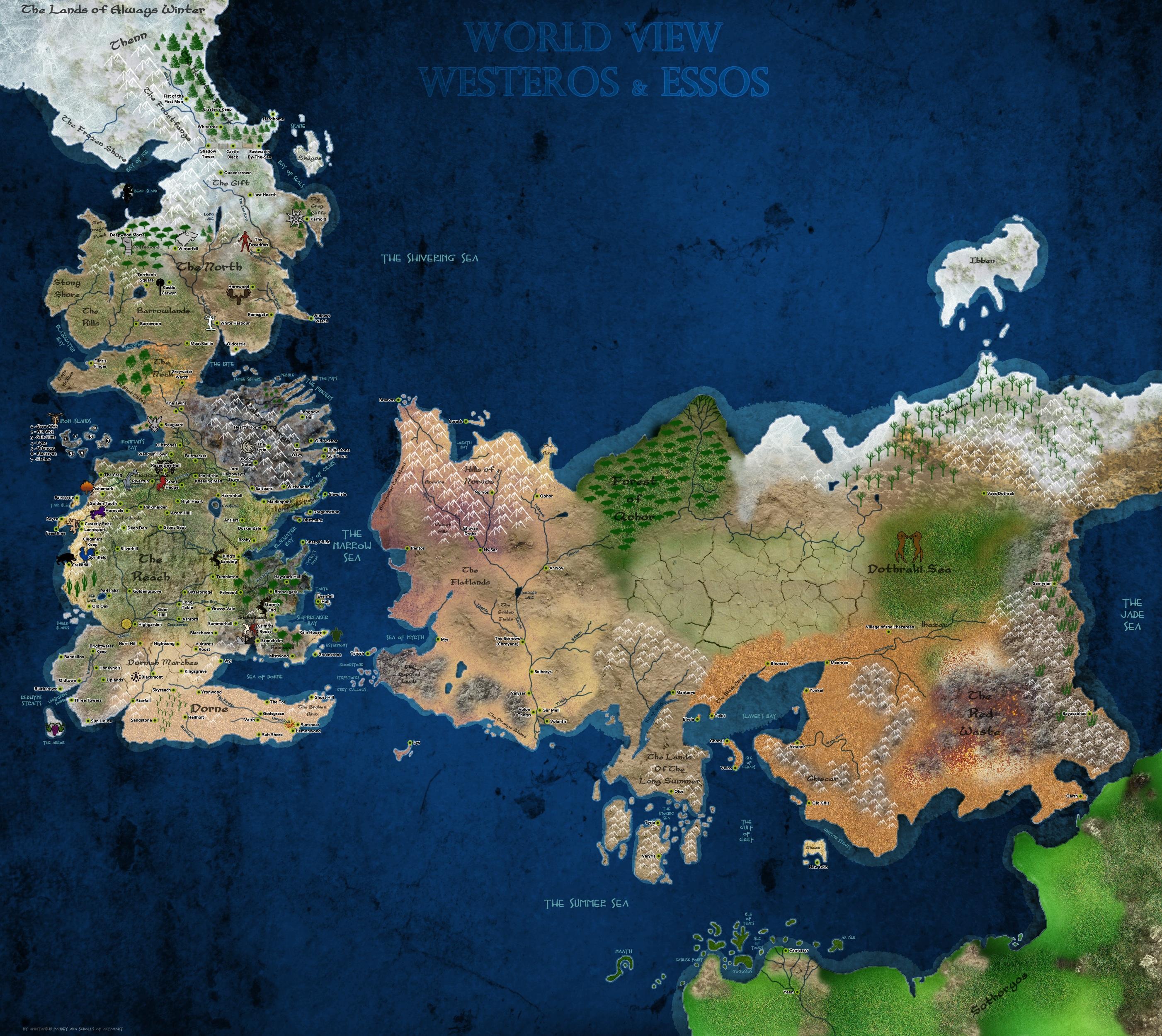 Game Of Thrones Map Wallpaper Wallpapersafari
