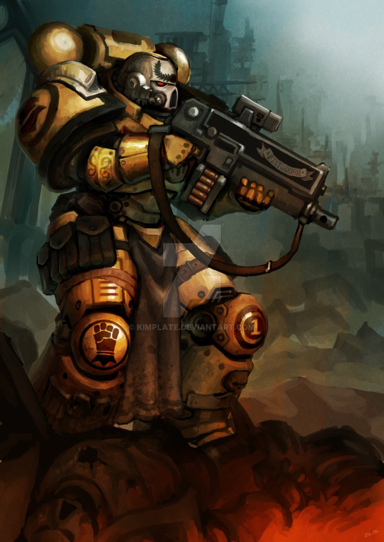 Imperial Fists Sternguard Veteran by kimplate 752x1063