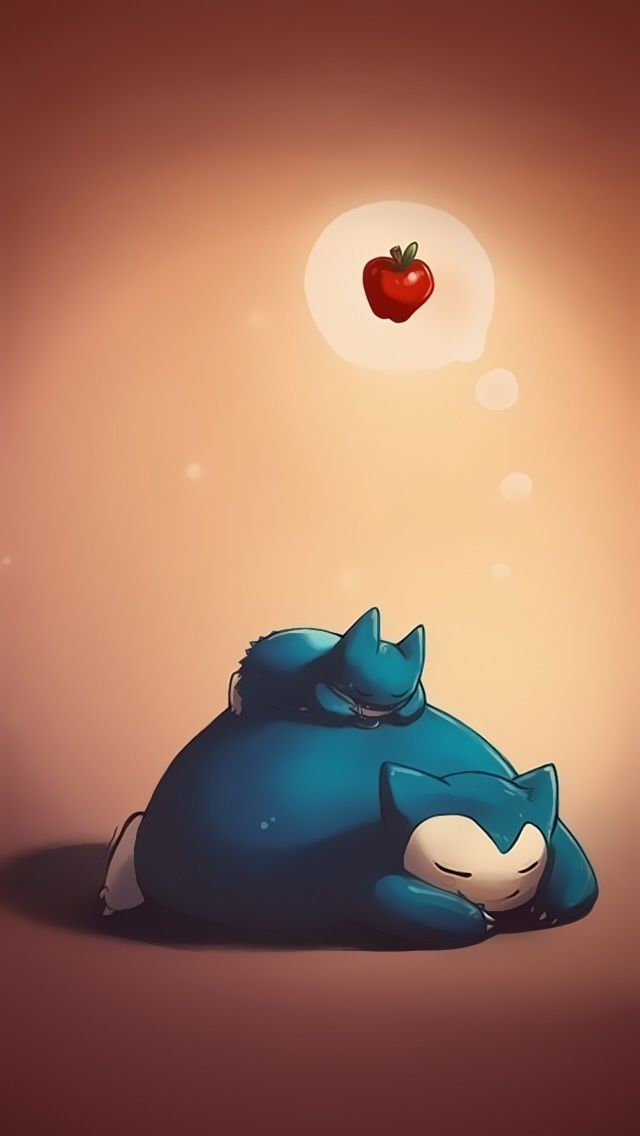 Snorlax and munchlax   Cute Pokemon iPhone Wallpapers mobile9 640x1136