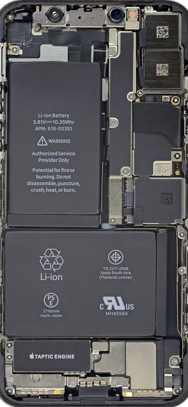Cool Insides By Ifixit Battery Hd iPhone 12 Wallpapers Download 640x1385