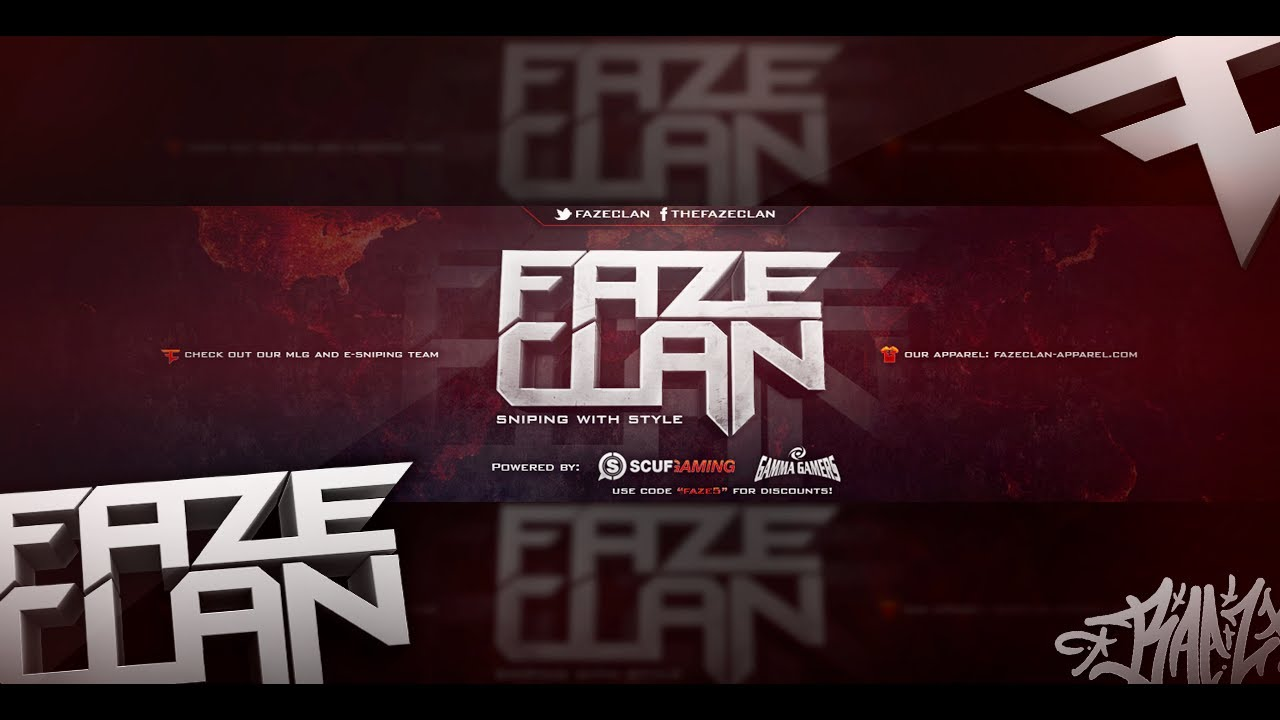 Speed Art FaZeClan Background 1280x720