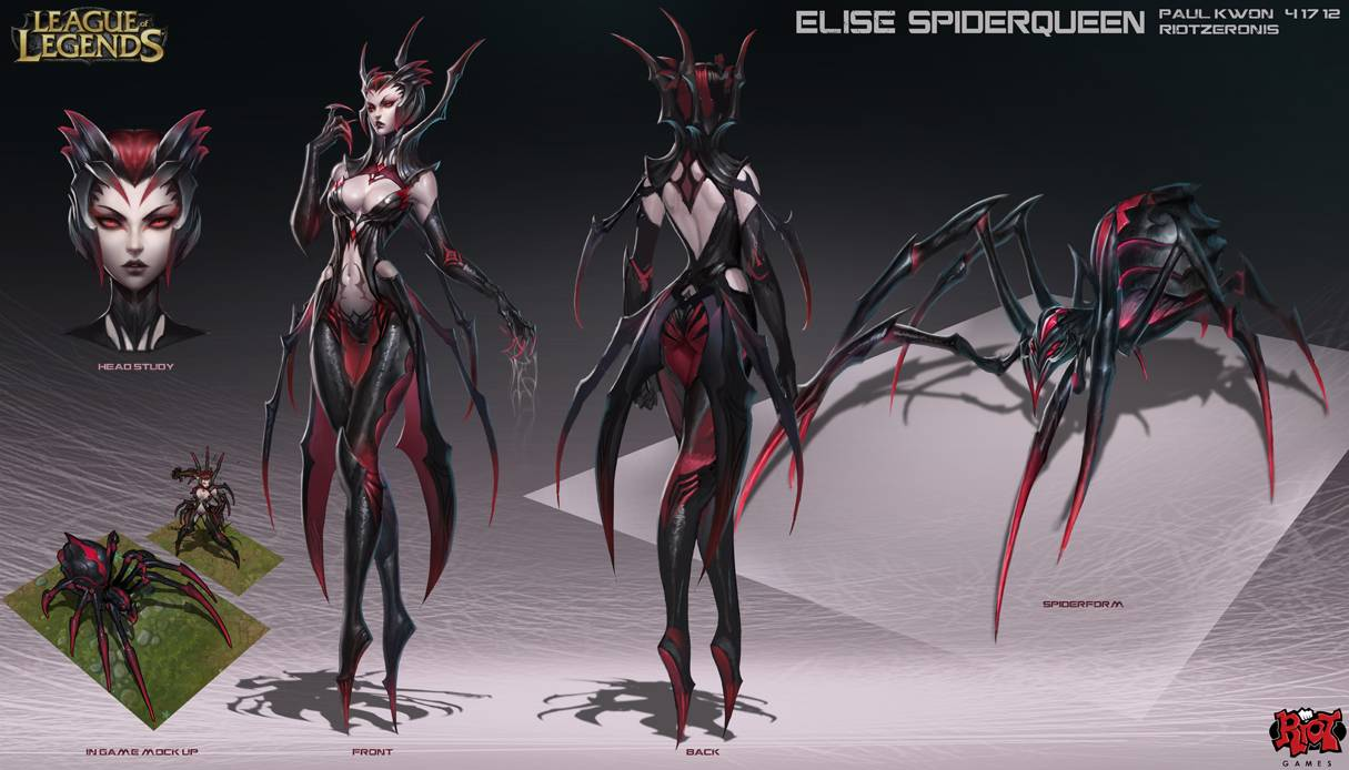 Elise the Spider Queen has arrived to League of Legends 1215x694