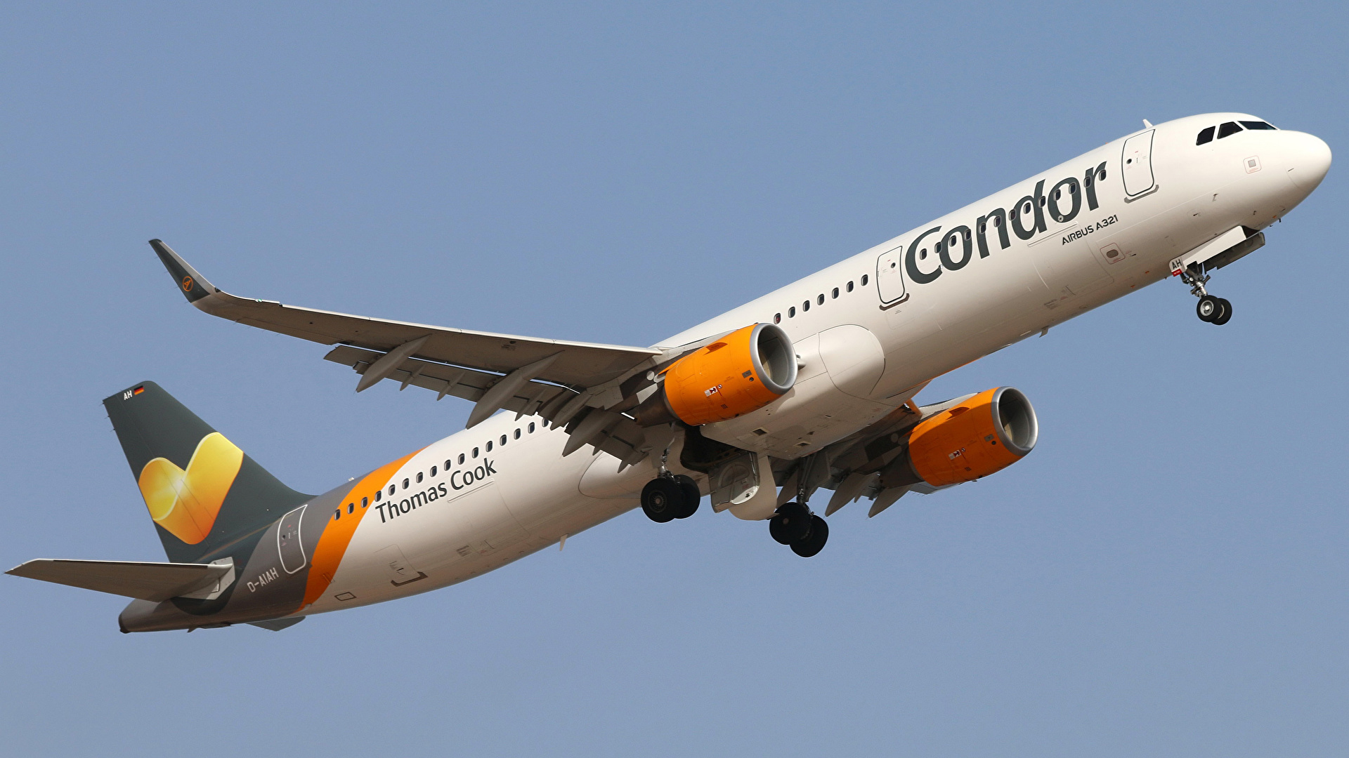 Images Airplane Passenger Airplanes Airbus A321 211 Condor 1920x1080 1920x1080