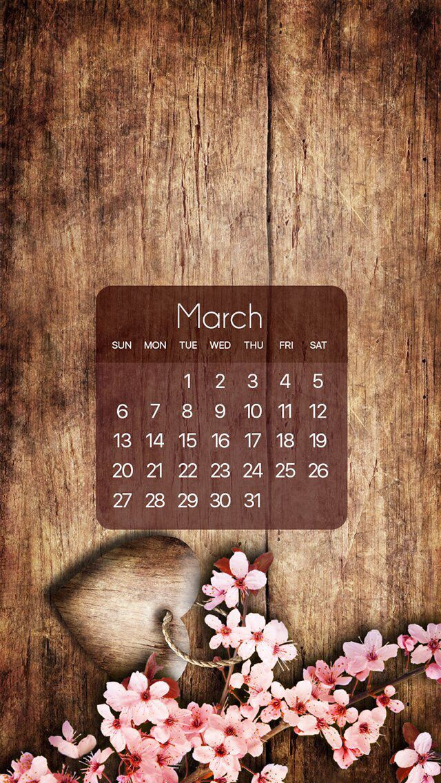Wallpaper iPhone calendar March 2016 i P i c s Calendar 640x1136