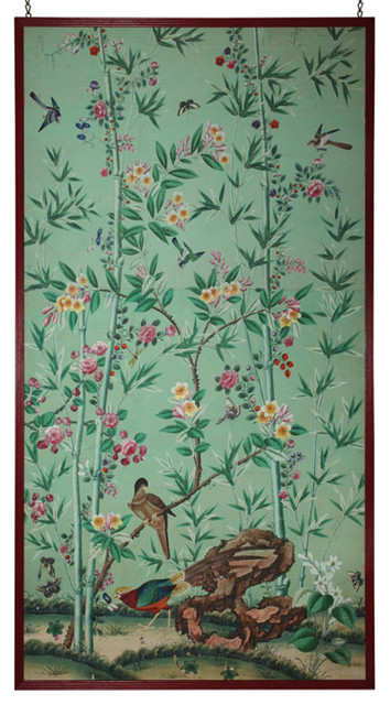 Chinese Export Wallpaper Panel   Asian   Screens And Room Dividers 354x640