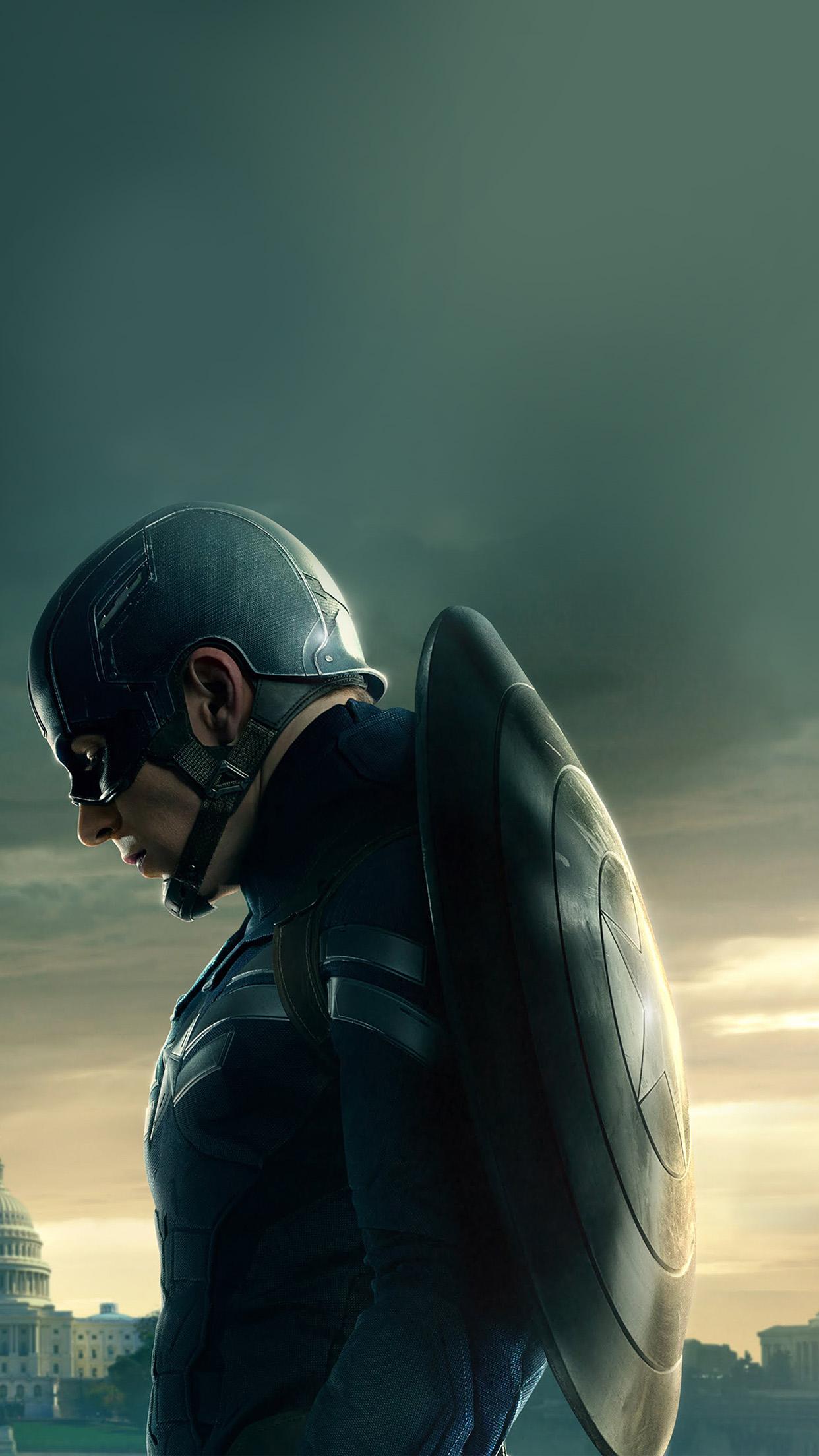 download Captain America Sad Hero Film Marvel Android 1242x2208