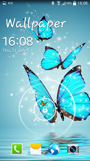 wallpaper for Android Butterfly download for tablet and phone 309x550