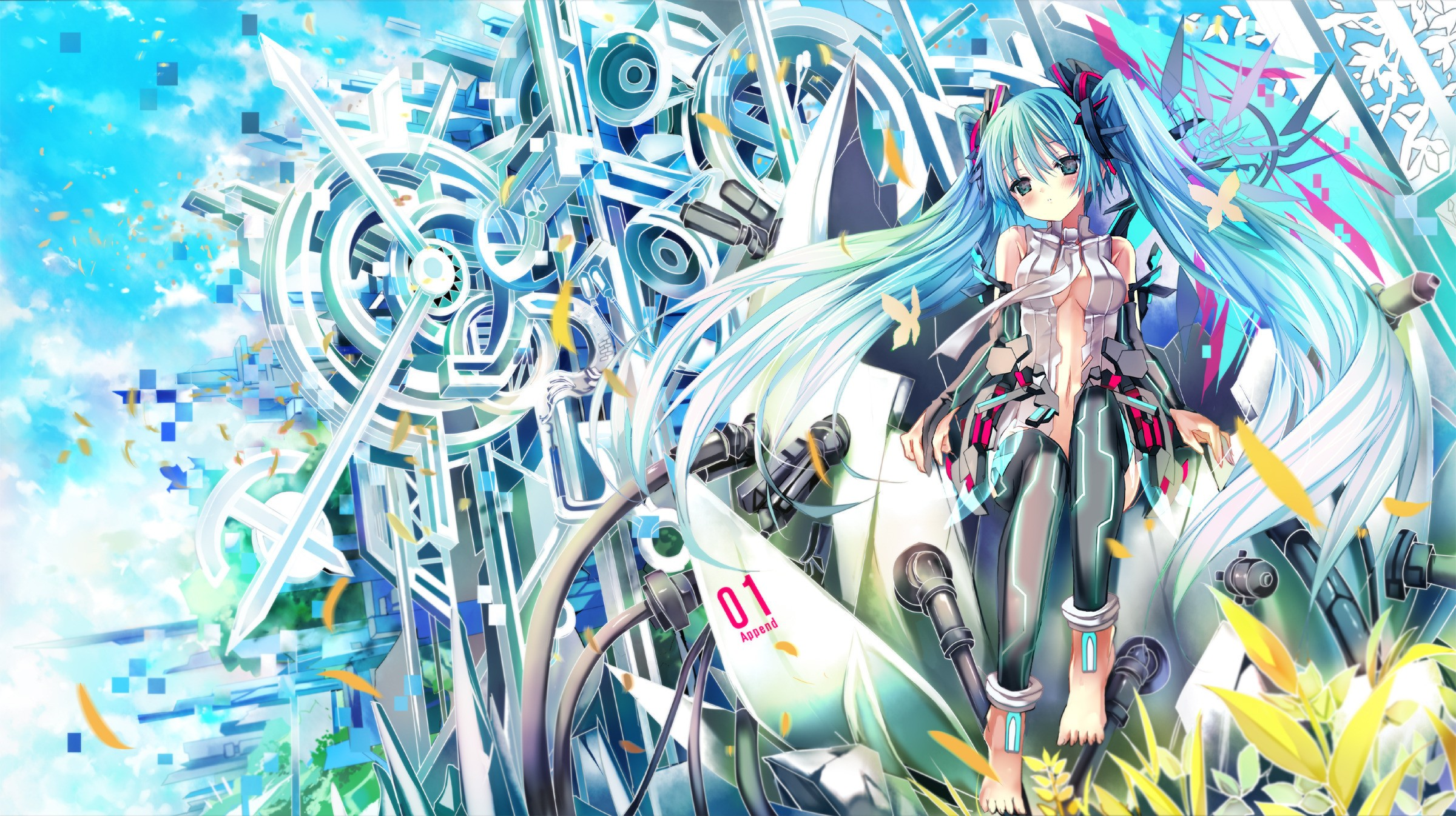 Music Vocaloid Wallpaper 2400x1346 Music Vocaloid Hatsune Miku 2400x1346