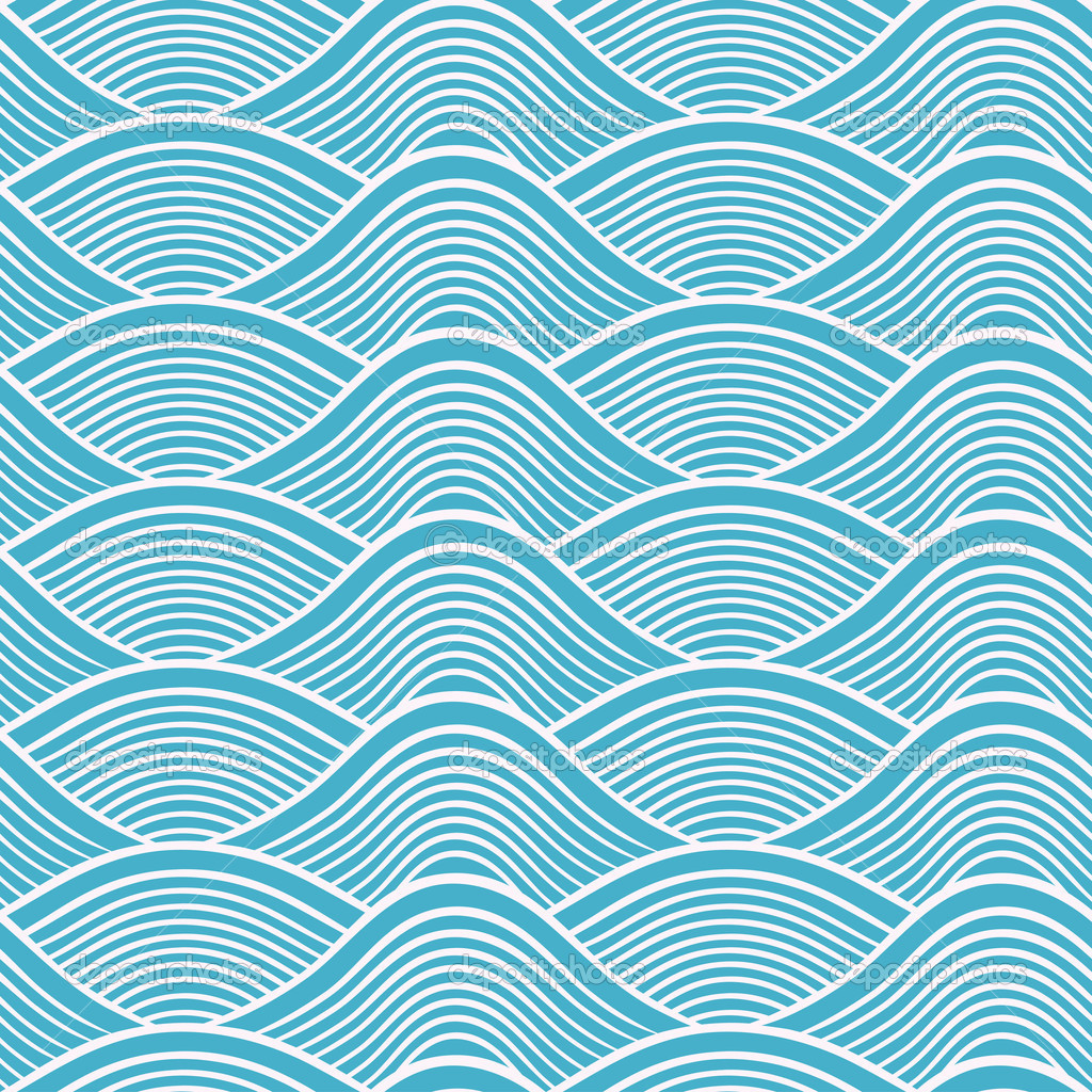 Japanese Wave Pattern Wallpaper Images & Pictures - Becuo